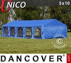 Carpas para fiestas UNICO 5x10m, Azul
