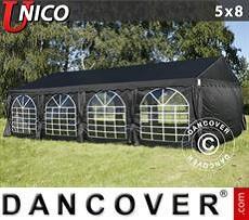 Carpas para fiestas UNICO 5x8m, Negro