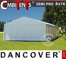 Carpa para fiestas, SEMI PRO Plus CombiTents® 8x16 (2,6)m 6 en 1, Blanco