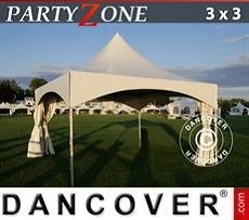 Carpa para fiestas Pagoda PartyZone 3x3 m PVC