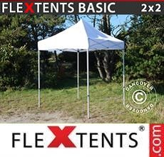 Carpa plegable FleXtents Basic v.2, 2x2m Blanco