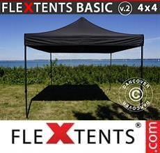 Carpa plegable FleXtents Basic v.2, 4x4m Negro