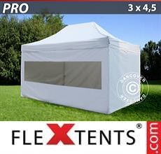 Carpa plegable FleXtents  PRO 3x4,5m Blanco, Incl. 4 lados