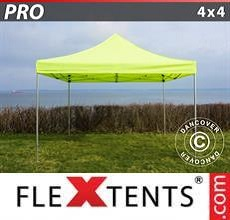 Carpa plegable FleXtents PRO 4x4m Amarillo Flúor/verde