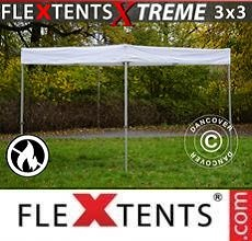 Carpa plegable FleXtents  Xtreme Exhibition 3x3m, Blanco, Ignífugo