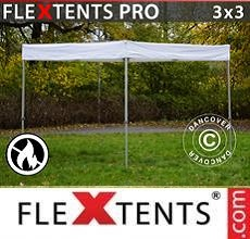Carpa plegable FleXtents  PRO Exhibition 3x3m, Blanco, Ignífugo