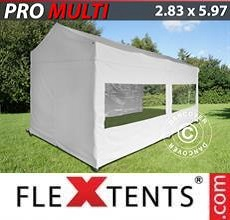 Carpa plegable FleXtents Multi 2,83x5,87m Blanco, incl. 6 lados