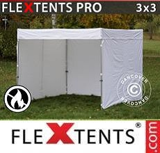 Carpa plegable FleXtents PRO Exhibition con muros laterales, 3x3m,