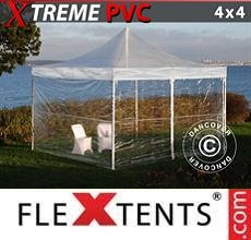 Carpa plegable FleXtents  Xtreme 4x4m Transparente, Incl. 4 lados