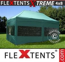 Carpa plegable FleXtents  Xtreme 4x8m Verde, Incl. 6 lados