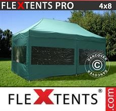 Carpa plegable FleXtents PRO 4x8m Verde, Incl. 6 lados