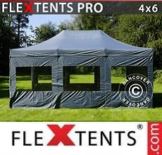 Carpa plegable FleXtents Xtreme 4x6m Gris, Incl. 8 lados