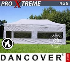 Flextents Carpas Eventos Xtreme 4x8m Blanco, Ignífuga, Incl. 4 lados