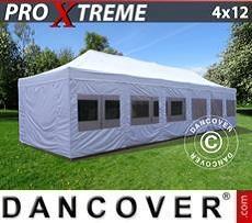 Flextents Carpas Eventos Xtreme 4x12m Blanco, Incl. lados