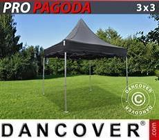 Flextents Carpas Eventos PRO Peak Pagoda 3x3m Negro