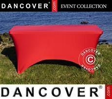 Cubierta flexible para mesa, 244x75x74cm, Rojo