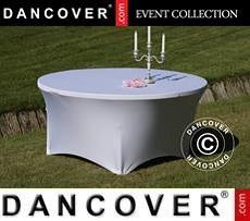 Cubierta flexible para mesa, Ø152x74cm, Blanco