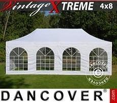 Flextents Carpas Eventos Xtreme Vintage Style 4x8m Blanco, Incl. 6 lados