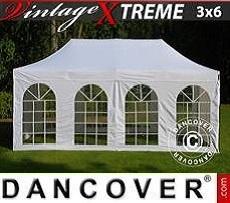 Flextents Carpas Eventos Xtreme Vintage Style 3x6m Blanco, Incl. 6 lados