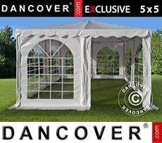 Pagoda Partyzone 5x5m PVC, Blanco