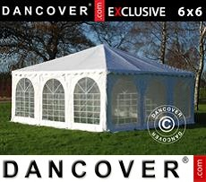 Pagoda Partyzone 6x6m PVC, Blanco