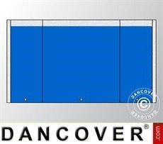 Muro hastial UNICO 5m con puerta estrecha, Azul