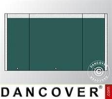 Muro hastial UNICO 5m con puerta estrecha, Verde oscuro