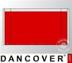Muro hastial UNICO 4m con puerta amplia, Rojo