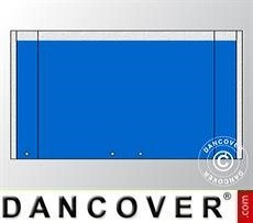Muro hastial UNICO 4m con puerta amplia, Azul