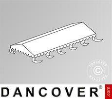 Cubierta para el techo para Carpa para fiesta Original 5x10m PVC, Blanca