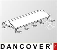 Cubierta para el techo para Carpa para fiesta Original 4x8m PVC, Blanco/Gris