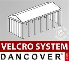 Cubierta para tejado con velcro para carpa Exclusive de 6x12m, Blanco/Gris