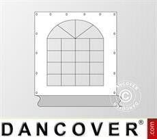 Muro lateral con ventana para carpa Exclusive, Blanco/Gris