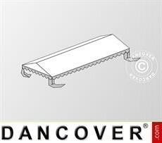 Cubierta para el techo para Carpa para fiesta Plus 5x10m PE, Blanco/Gris