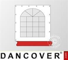 Muro lateral con ventana para carpa Exclusive, Blanco/Rojo