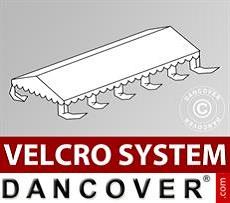 Cubierta para techo de Carpa para Fiesta UNICO, PVC/Poliéster, 5x10m, Blanco