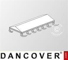 Cubierta para el techo para Carpa para fiesta Exclusive 5x12m PVC, Blanco/Gris
