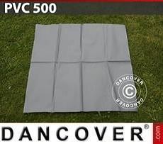 PVC para reparación de carpa de almacenamiento, 500g/m², 1x1m, Gris