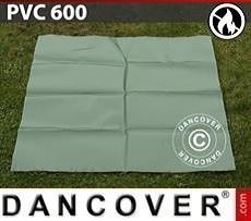PVC retardante de fuego para reparación de carpa de almacenamiento, 600g/m², 1x1m, Verde