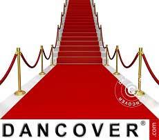 Tapete de alfombra roja, 1x6m, 400g.