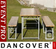 Set de mesas cerveceras 220x60x76 cm, Madera clara
