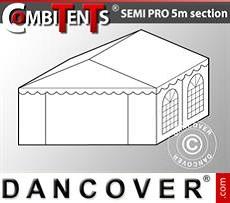Extensión de tramo final de 4m para CombiTent Semi PRO, 5x4m, PVC, Blanco
