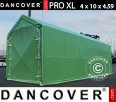 Carpas de Almacén 4x10x3,5x4,59m, PVC, Verde