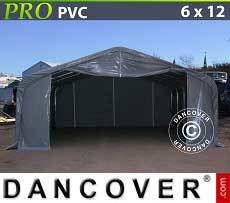 Carpas de Almacén 6x12x3,7m PVC, Gris