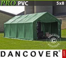 Carpas de Almacén 5x8x2x2,9m, PVC, Verde