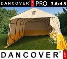 Carpa de trabajo y almacén PRO 3,6x4,8x2,7m, PVC, Blanco/Amarillo,
