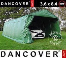 Carpa garaje PRO 3,6x8,4x2,7m PVC, verde