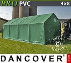 Carpa grande de almacén PRO 4x8x2x3,1m, PVC, Verde