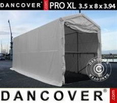 Carpa grande de almacén PRO XL 3,5x8x3,3x3,94m, PVC, Blanco