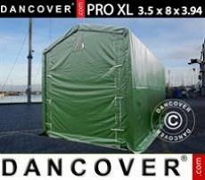 Carpa grande de almacén PRO XL 3,5x8x3,3x3,94m, PVC, Verde